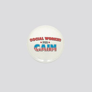 Social worker for Cain Mini Button