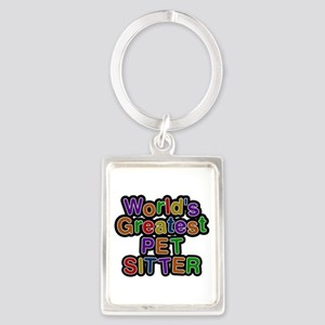 World's Greatest PET SITTER Portrait Keychain