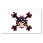 Cute Pirate Captain Sticker (10 Pk)