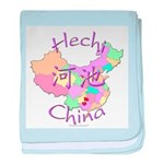 Hechi China Map baby blanket