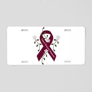 Aneurysm Awareness Ribbon Aluminum License Plate