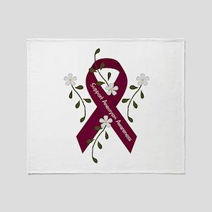 Aneurysm Awareness Ribbon Throw Blanket