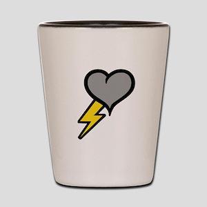 Thunder Heart (weather symbol Shot Glass