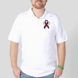 Aneurysm Awareness Ribbon (Me Golf Shirt
