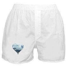 Blue Sky Heart Boxer Shorts