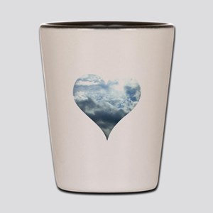 Blue Sky Heart Shot Glass