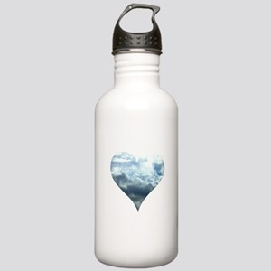 Blue Sky Heart Stainless Water Bottle 1.0L