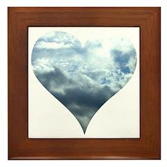 Blue Sky Heart Framed Tile