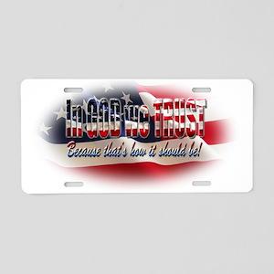 In GOD we TRUST Aluminum License Plate