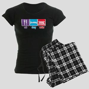 Eat Sleep Write Women's Dark Pajamas