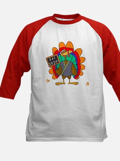 Thanksgiving Turkey Kids Baseball Jersey