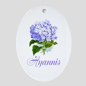 Hyannis Hydrangeas Ornament (Oval)