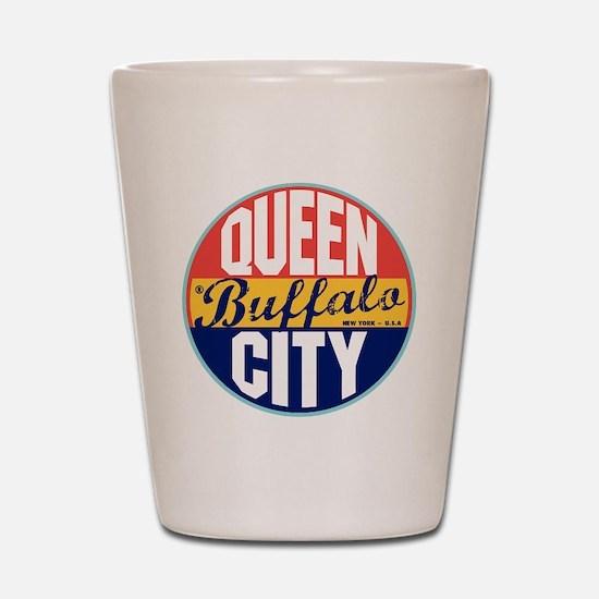 Buffalo Vintage Label Shot Glass