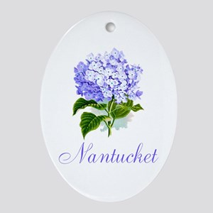Nantucket Hydrangeas Ornament (Oval)