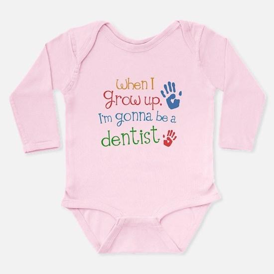 Kids Future Dentist Long Sleeve Infant Bodysuit