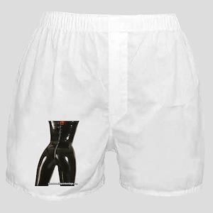Girl In Black Rubber Boxer Shorts