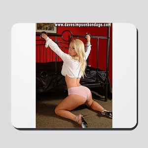 Girl With Hands Through Bed Mousepad