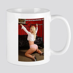 Girl With Hands Through Bed Mug