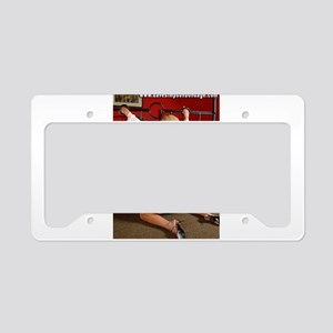Girl With Hands Through Bed License Plate Holder