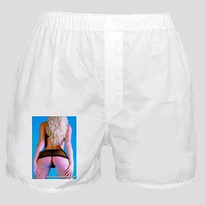 Girl In Very Short Skirt Boxer Shorts