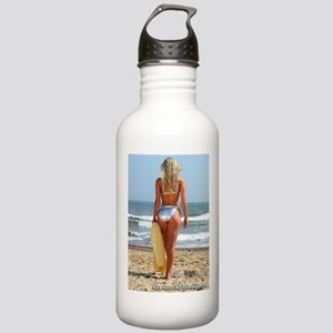 Girl On Beach Stainless Water Bottle 1.0L