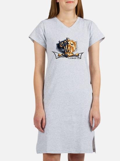 Longhair Dachshund Lover Women's Nightshirt