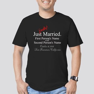 Finally Married Men's Fitted T-Shirt (dark)