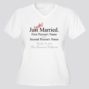 Finally Married Women's Plus Size V-Neck T-Shirt