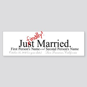 Finally Married Bumper Sticker