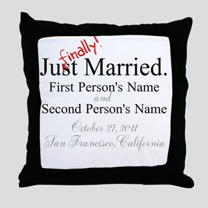 Finally Married Throw Pillow