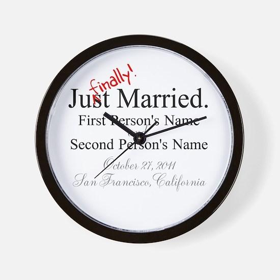Finally Married Wall Clock