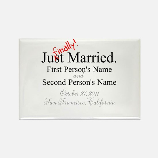 Finally Married Rectangle Magnet (10 pack)