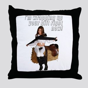 I'm Wrapping Up Your Gift Rig Throw Pillow