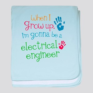 Kids Future Electrical Engineer baby blanket