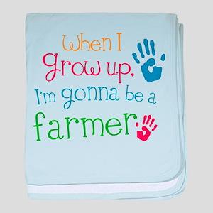 Kids Farmer Quote baby blanket