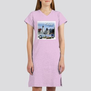 Maine Lighthouses Women's Nightshirt