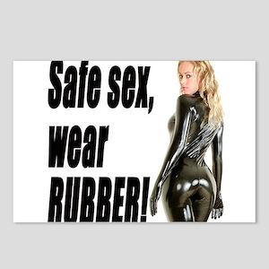 Safe Sex, Wear Rubber! Postcards (Package of 8)