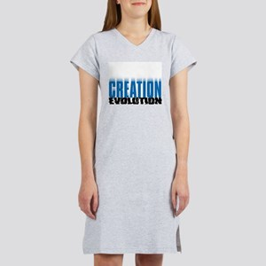 Creation crushes Evolution Women's Pink Nightshirt