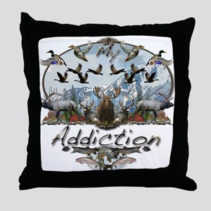 My Addiction Throw Pillow