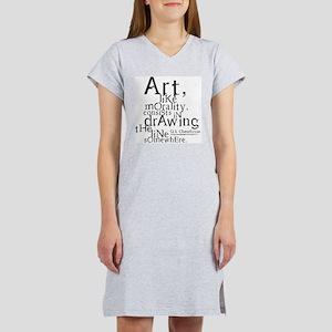 Art, like Morality Women's Pink Nightshirt