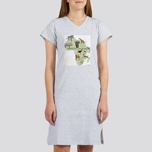 african wildlife Women's Nightshirt