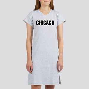 Chicago, Illinois Women's Pink Nightshirt