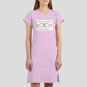 Funny Jesus Fish Women's Nightshirt