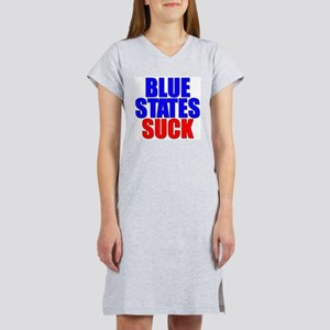 Blue States Suck Women's Pink Nightshirt