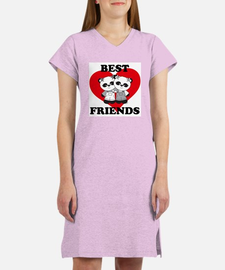 Best Friend Panda Bear Hug Women's Nightshirt