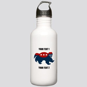 Patriotic Honey Badger Stainless Water Bottle 1.0L
