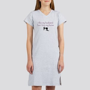 Like Husband Love Horse Women's Nightshirt