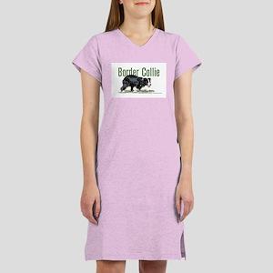 Creeping Border Collie Women's Nightshirt