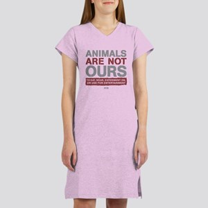 Animals Are Not Ours Women's Nightshirt