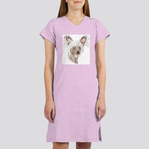 Chinese crested dog Women's Nightshirt